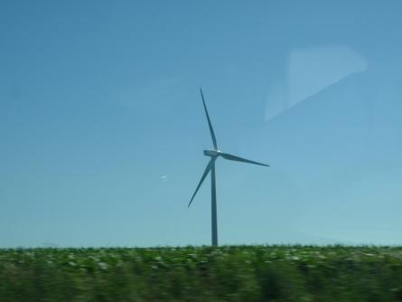 A lone turbine